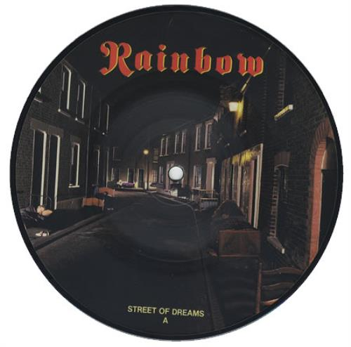 """Rainbow Street Of Dreams 7"""" vinyl picture disc 7 inch picture disc single UK RBO7PST113158"""