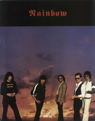 Rainbow Tour Of Europe 1980 tour programme UK RBOTRTO738649