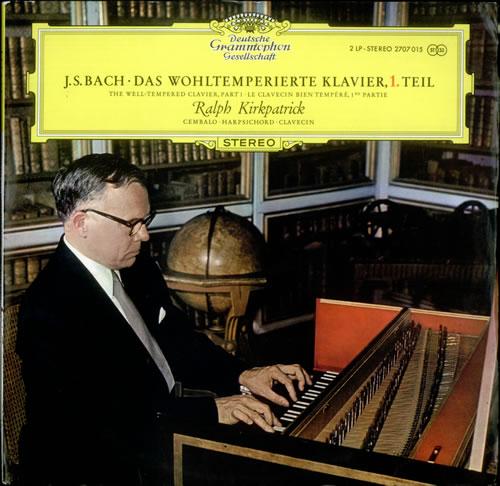 Ralph Kirkpatrick Bach: Da Wohltemperierte Klavier, 1. Teil 2-LP vinyl record set (Double Album) German XDM2LBA532100