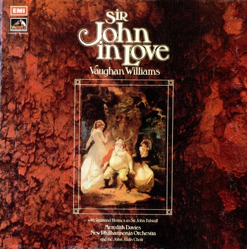 Ralph Vaughan Williams Sir John In Love Uk 3 Lp Vinyl
