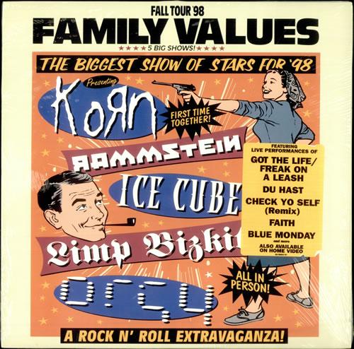 Rammstein Family Values Tour '98 - Sealed 2-LP vinyl record set (Double Album) US RMM2LFA515223