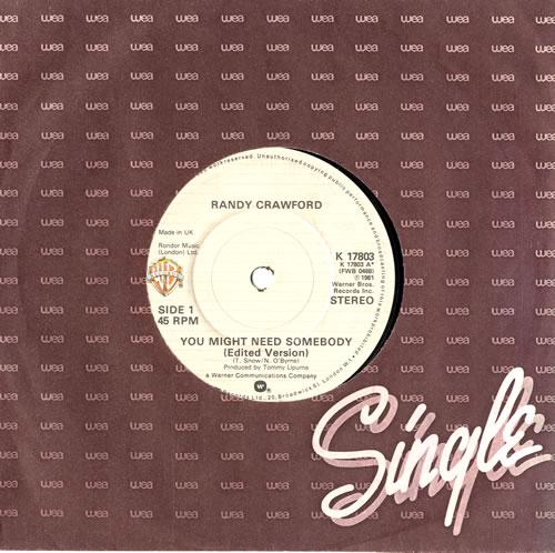 "Randy Crawford You Might Need Somebody 7"" vinyl single (7 inch record) UK RCW07YO560333"