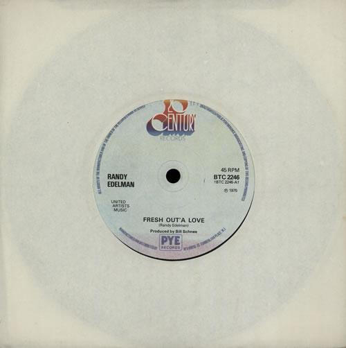 "Randy Edelman Fresh Out'a Love 7"" vinyl single (7 inch record) UK RKQ07FR568338"