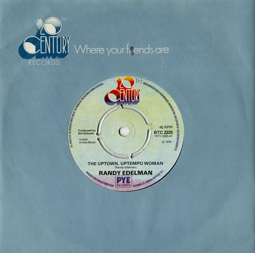 "Randy Edelman The Uptown, Uptempo Woman - 4pr 7"" vinyl single (7 inch record) UK RKQ07TH574285"