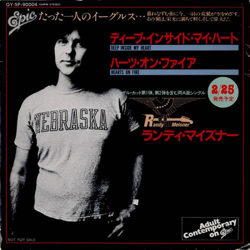 "Randy Meisner Deep Inside My Heart 7"" vinyl single (7 inch record) Japanese RMS07DE597626"