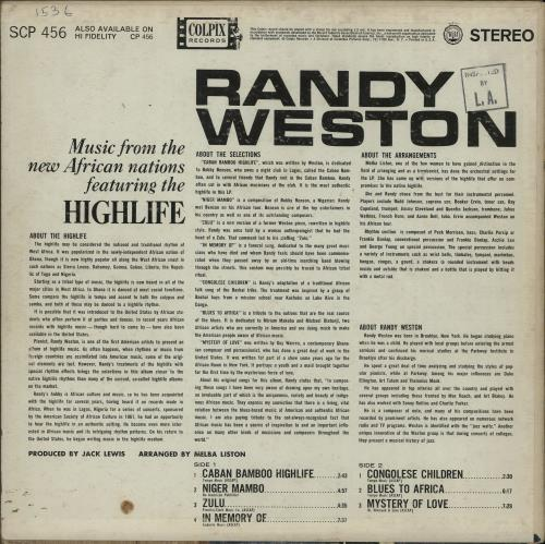 Randy Weston Music From The New African Nations Featuring