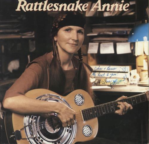 Rattlesnake Annie Rattlesnake Annie - Autographed vinyl LP album (LP record) UK RX8LPRA701577