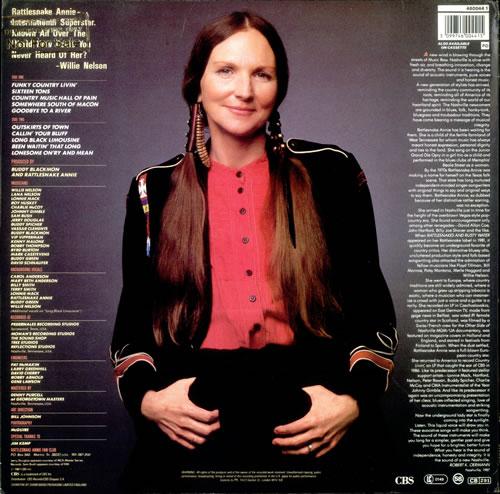 Rattlesnake Annie Rattlesnake Annie - Gold promo stamped vinyl LP album (LP record) UK RX8LPRA517645