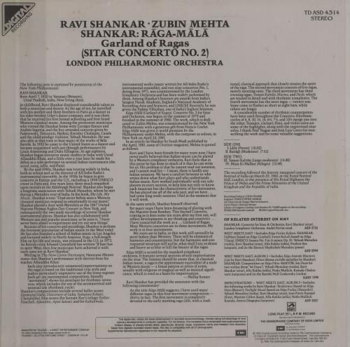 Ravi Shankar Raga Mala (Garland Of Ragas) vinyl LP album (LP record) Indian RVKLPRA754611