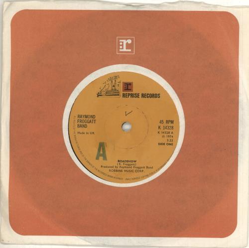 "Raymond Froggatt Roadshow 7"" vinyl single (7 inch record) UK 1RF07RO712884"