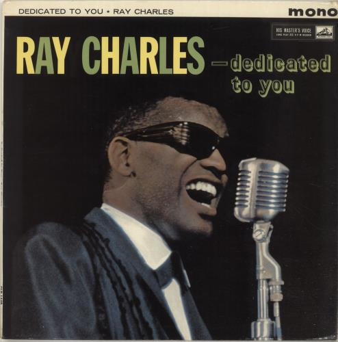 Ray Charles Dedicated To You vinyl LP album (LP record) UK RYHLPDE699832