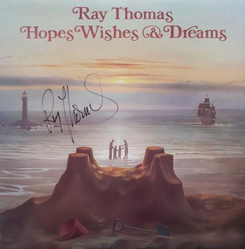 Ray Thomas Hopes Wishes & Dreams - Autographed Marker vinyl LP album (LP record) US RYTLPHO714376
