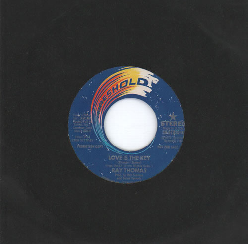 "Ray Thomas Love Is The Key 7"" vinyl single (7 inch record) US RYT07LO635783"