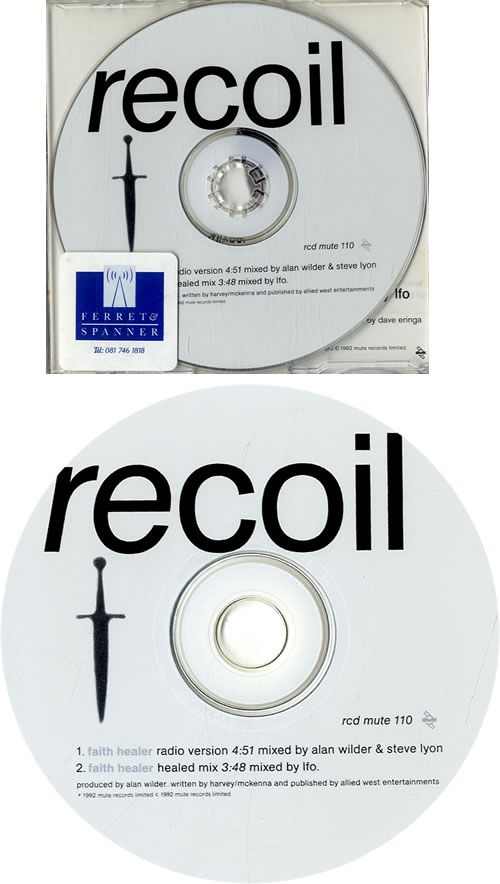 "Recoil Faith Healer CD single (CD5 / 5"") UK RCLC5FA163067"