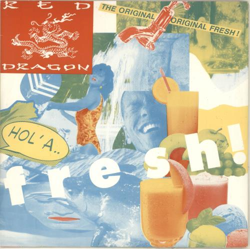 "Red Dragon Hol A Fresh 12"" vinyl single (12 inch record / Maxi-single) UK 1RD12HO713375"