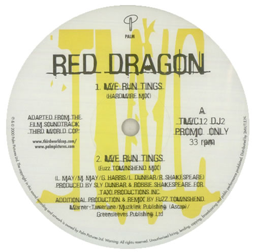 "Red Dragon We Run Tings 12"" vinyl single (12 inch record / Maxi-single) UK 1RD12WE444780"