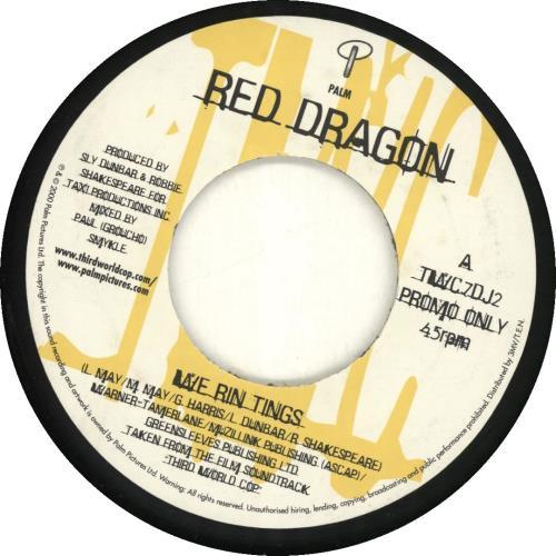 "Red Dragon We Run Tings 7"" vinyl single (7 inch record) UK 1RD07WE689971"