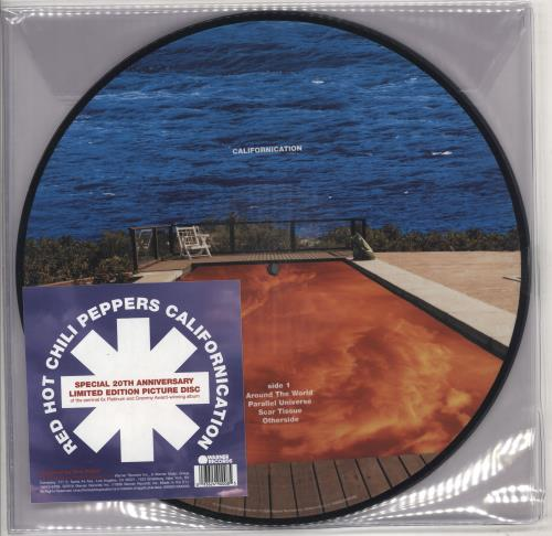 Red Hot Chili Peppers Californication picture disc LP (vinyl picture disc album) UK RHCPDCA730090