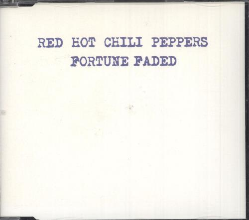 "Red Hot Chili Peppers Fortune Faded CD single (CD5 / 5"") UK RHCC5FO744396"