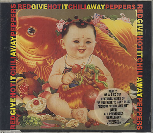 red hot chili peppers give it away german cd single cd5
