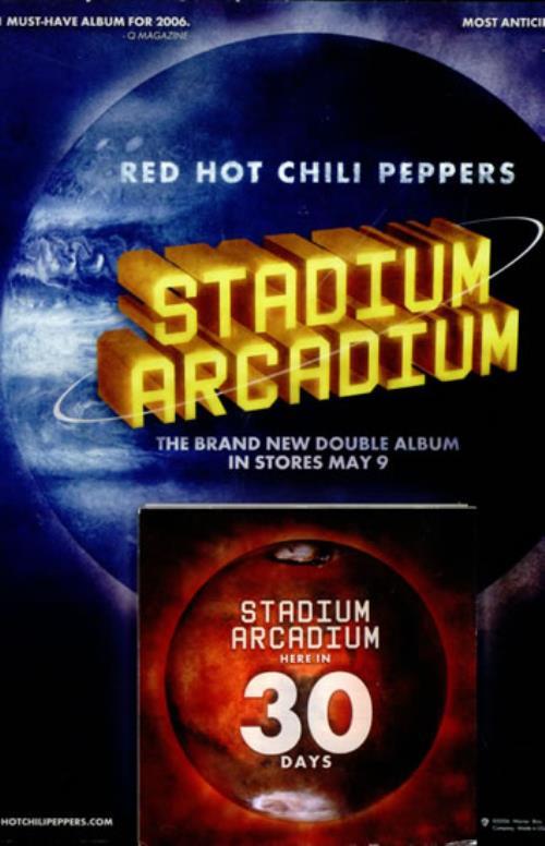 Red Hot Chili Peppers Stadium Arcadium display US RHCDIST501951