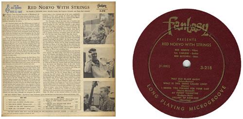 Red Norvo Red Norvo With Strings vinyl LP album (LP record) US RN0LPRE384780