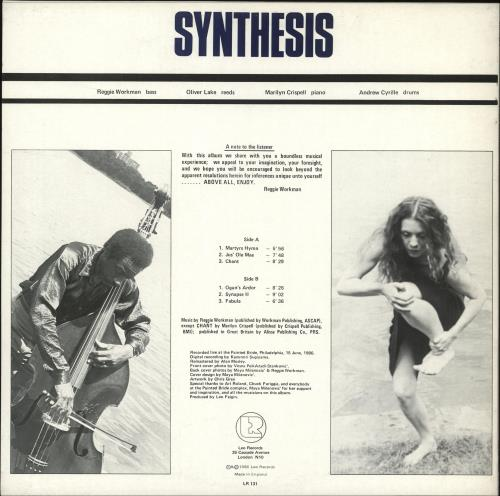 Reggie Workman Synthesis vinyl LP album (LP record) UK YGJLPSY706367