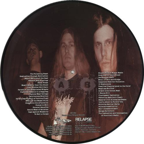 "Regurgitate Carniverous Erection 12"" vinyl picture disc 12inch picture disc record German YGI2PCA705483"