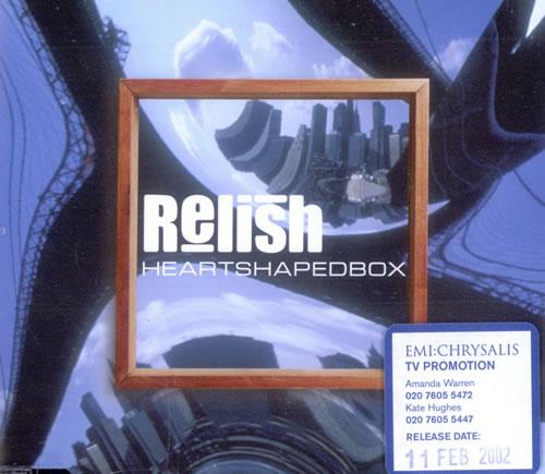 "Relish Heartshaped Box CD single (CD5 / 5"") UK RSHC5HE506289"