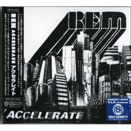 REM Accelerate CD album (CDLP) Japanese REMCDAC428042