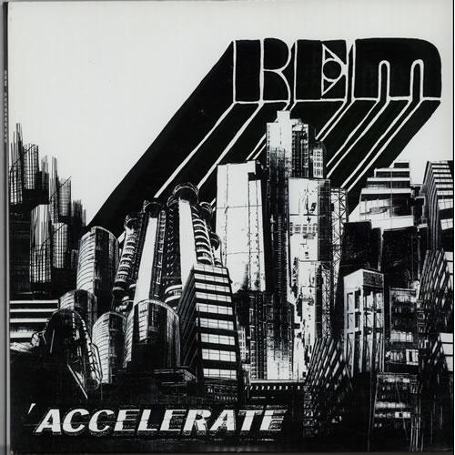 REM Accelerate 2-LP vinyl record set (Double Album) US REM2LAC642260