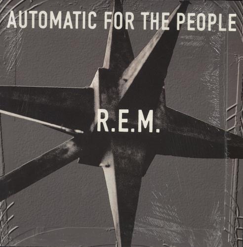 REM Automatic For The People - 1st + Shrinkwrap vinyl LP album (LP record) UK REMLPAU742057