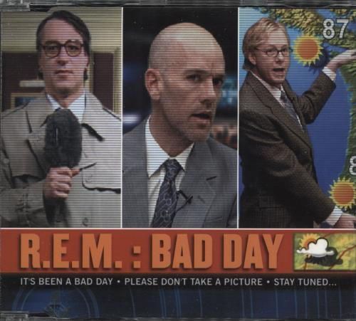 """REM Bad Day - CD2 CD single (CD5 / 5"""") UK REMC5BA513097"""