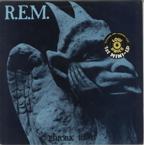 "REM Chronic Town EP + Sticker - EX 12"" vinyl single (12 inch record / Maxi-single) Dutch REM12CH741980"