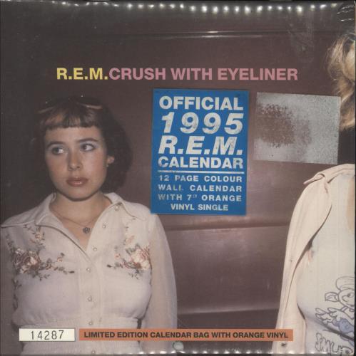 "REM Crush With Eyeliner - Sealed! 7"" vinyl single (7 inch record) UK REM07CR322002"