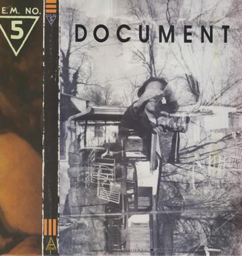 REM Document + Inner vinyl LP album (LP record) UK REMLPDO355787