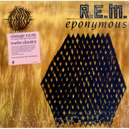 Rem Eponymous Cover Sticker Us Vinyl Lp Album Lp Record
