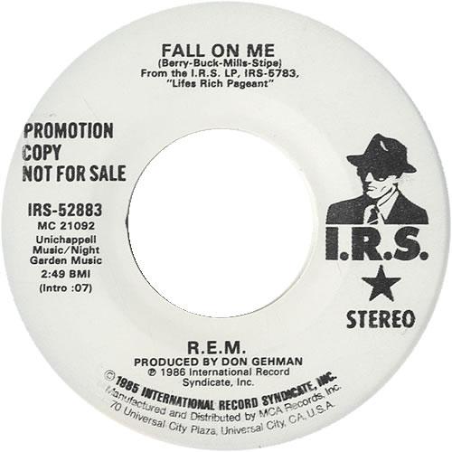 "REM Fall On Me 7"" vinyl single (7 inch record) US REM07FA97514"