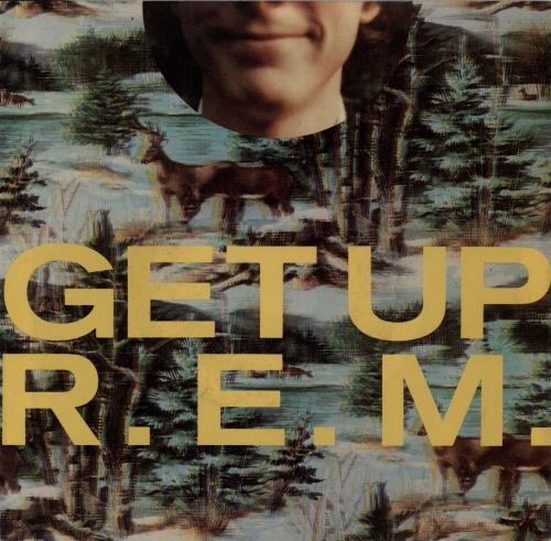 """REM Get Up 7"""" vinyl single (7 inch record) US REM07GE764936"""