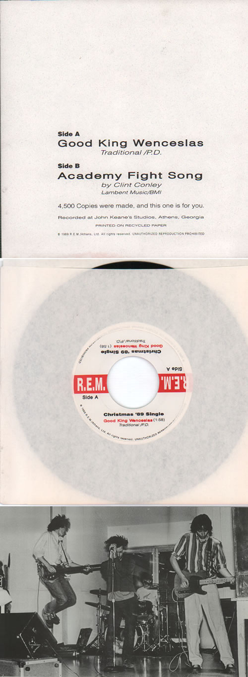 "REM Good King Wenceslas - Poster Sleeve 7"" vinyl single (7 inch record) US REM07GO146155"
