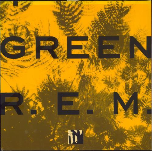 REM Green - Back Stickers vinyl LP album (LP record) UK REMLPGR730917
