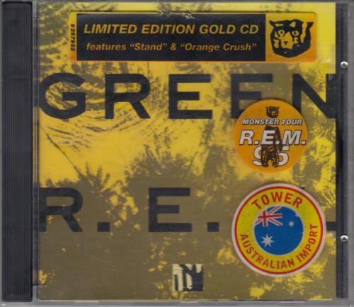REM Green World Tour 1989 - Gold Tour CD CD album (CDLP) Australian REMCDGR38761