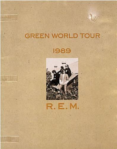 REM Green World Tour 1989 - Part Three tour programme UK REMTRGR36176