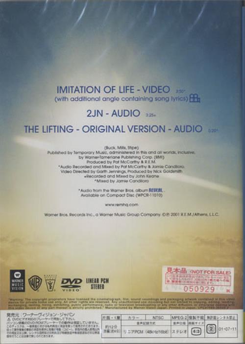 REM Imitation Of Life - Sealed DVD Single Japanese REMDSIM460704