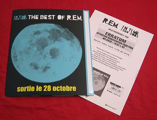 REM In Time 1988-2003 The Best Of R.E.M. display French REMDIIN271089