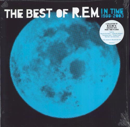 REM In Time: The Best Of R.E.M. 1988-2003 - 180gm Blue Vinyl - Sealed 2-LP vinyl record set (Double Album) UK REM2LIN726465