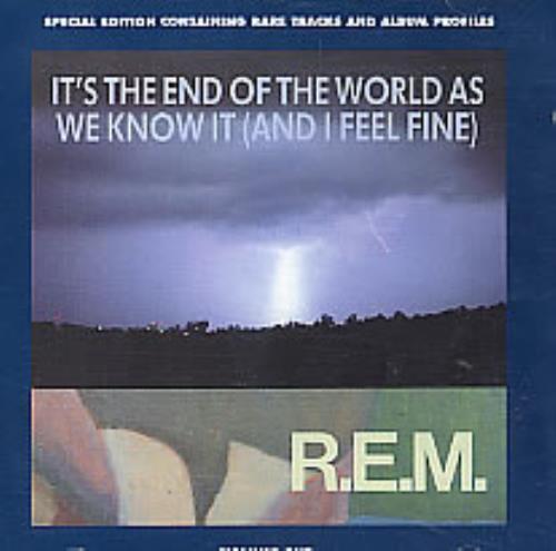 REM It's The End Of The World 2-CD single set (Double CD single) UK REM2SIT220161