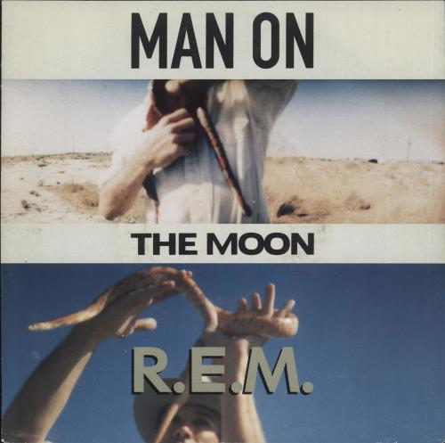 """REM Man On The Moon - Solid 7"""" vinyl single (7 inch record) German REM07MA715929"""