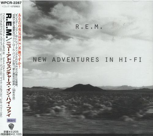 REM New Adventures In Hi-Fi CD album (CDLP) Japanese REMCDNE529078