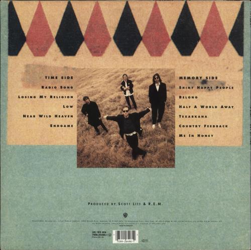 REM Out Of Time - VG vinyl LP album (LP record) UK REMLPOU678787